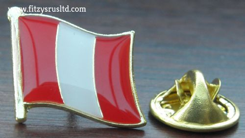 Peru Country Flag Lapel Hat Cap Tie Pin Badge Repblica del Per Peruvian New #2